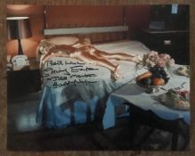 Shirley Eaton Goldfinger signed 10 x 8 inch James Bond photo. Good Condition. All autographs come