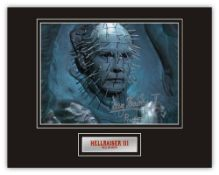 Stunning Display! RARE Image! Hellraiser Doug Bradley hand signed professionally mounted display.