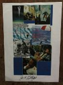 Joe Kittinger signed A4 paper montage print. Good Condition. All autographs come with a