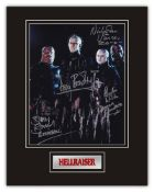 Stunning Display! Hellraiser Hellbound multi signed professionally mounted display. This beautiful