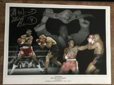 Boxing Frank Bruno signed 16 x 12 inch colour montage photo. Good Condition. All autographs come