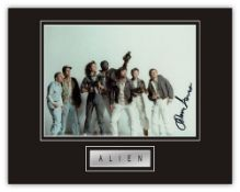 Stunning Display! Alien John Hurt (d) hand signed professionally mounted display. This beautiful