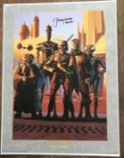 Star Wars Jeremy Bulloch Boba Fett signed 16 x 12 inch colour print Bounty Hunters. Good