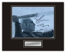 Stunning Display! Game Of Thrones Richard Brake hand signed professionally mounted display. This
