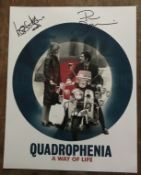 Quadrophenia Phil Davidson and Leslie Ash signed 16 x 12 inch colour photo of the movie poster. Good