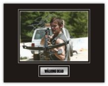 Stunning Display! The Walking Dead Norman Reedus hand signed professionally mounted display. This