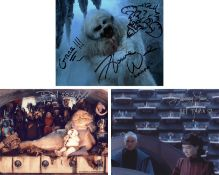 Blowout Sale! Lot of 3 Star Wars hand signed 10x8 photos. This beautiful lot of 3 hand signed photos