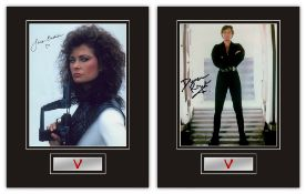 Set of 2 Stunning Displays! V hand signed professionally mounted displays. This beautiful set of 2