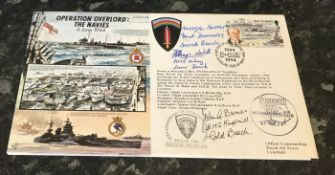 WW2 D Day triple signed cover Flt. Lt. John Guy Cardew Barnes 600 Squadron Battle of Britain and