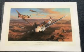 Nicolas Trudgian Desert Sharks and Eagles Limited Edition signed by 2 Luftwaffe pilots and 2 RAF