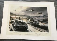 Nicolas Trudgian The Cold Front Tank Commander Edition signed by 9 holders of the Knights Cross (6