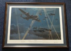 Robert Taylor Duel in the Dark Night Fighter Edition signed by 6 top Luftwaffe WW2 Night Fighters.