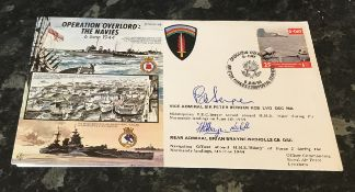 WW2 D Day double signed cover Vice Admiral Sir Peter Berger KCB LVO DSC MA who was a Midshipman