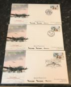 Three Concorde Special Flown Christmas 1990 Lancaster covers, all three flown on Concorde G BOAC Bay