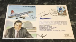 Brian Trubshaw (1924 2001) CBE, MVO was a leading test pilot, and the first British pilot to fly