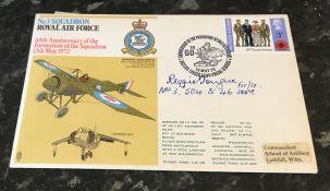 WW2 RAF Flt. Lt. Reggie E Tongue No.3, 504 and 46 Squadrons Battle of Britain pilot. Signed on a RAF