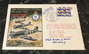 WW2 RAF Typhoon pilots double signed cover H S Pat Pattison 182 and 247 Squadrons RAF and C D Kit
