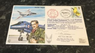 Peter Twiss (1921 2011) OBE, DSC & Bar was a British test pilot who holds the World Air Speed Record