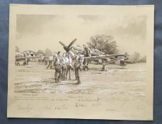 Robert Taylor Welcoming Respite The Battle of Britain Graphite Edition signed by Dame Vera Lynn