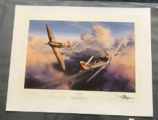 Nicolas Trudgian Head to Head Limited Edition signed by 8 RAF 602 Squadron Battle of Britain pilots.