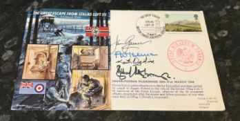 WW2 The Great Escape multi signed cover including The actor Richard (Lord) Attenborough who played