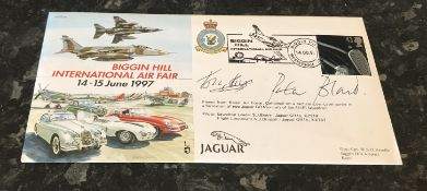 WW2 Colditz Castle British Motor Sport double signed cover Major Anthony Rolt (1918 2008) MC &