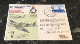 WW2 RAF Fighter Ace Ambassador Roger Malangrau Belgian Battle of Britain pilot. Signed on an RAF