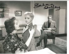 Barbara Shelley Signed 10x8 Black And White Photo. Good condition. All autographs come with a