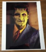 Andy Hallett Signed 10x8 Colour Photo. Good condition. All autographs come with a Certificate of