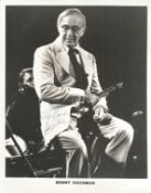 Benny Goodman Signed 10x8 Black And White Photo. Good condition. All autographs come with a