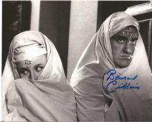 Bernard Cribbins Signed 10x8 Black And White Photo. Good condition. All autographs come with a