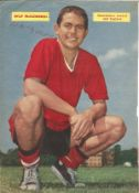 Wilf McGuinness Signed Vintage Manchester United A4 Picture. Good condition. All autographs come