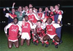 Arsenal 12x16 Photo Signed By Alan Smith & Anders Limpar. Good condition. All autographs come with a