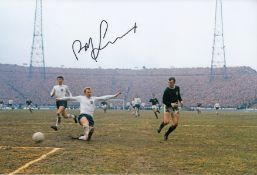 Autographed Bobby Lennox 12 X 8 Photo Col, Depicting The Scottish Midfielder Shooting At Goal