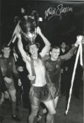 David Sadler Signed Manchester United 1968 European Cup 8x12 Photo. Good condition. All autographs