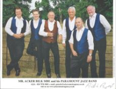 Acker Bilk And His Paramount Jazz Band Signed 8x10 Promo Photo. Good condition. All autographs