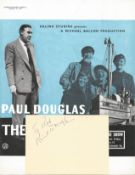 Paul Douglas (1907 1959) Actor Signed Vintage Album Page With The Maggie Picture. Good condition.