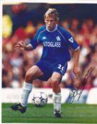 Sam Della Bona Signed Chelsea 8x10 Photo. Good condition. All autographs come with a Certificate