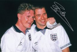 Autographed Steve Bull 12 X 8 Photo Col, Depicting Bull And His England Teammate Paul Gascoigne
