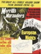 Jeff Chandler (1918 1961) Actor Signed Vintage Album Page With Merrill's Marauders Picture. Good