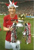 Federico Macheda Signed Manchester United 8x12 Photo. Good condition. All autographs come with a