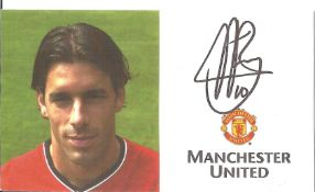 Ruud Van Nistelrooy Signed Official Manchester United Card. Good condition. All autographs come with