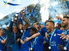 Claudio Ranieri Leicester City Signed 16 x 12 inch football photo. Good condition. All autographs