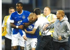 Tony Hibbert testimonial Everton Signed 16 x 12 inch football photo. Good condition. All
