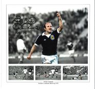 Archie Gemmill Collage Scotland Signed 12 x 12 inch football photo. Good condition. All autographs