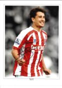 Bojan Krkic Stoke Signed 16 x 12 inch football photo. Good condition. All autographs come with a
