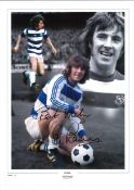 Stan Bowles Collage QPR Signed 16 x 12 inch football photo. Good condition. All autographs come with