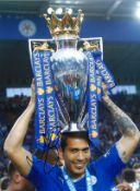 Leonardo Ulloa Leicester City Signed 16 x 12 inch football photo. Good condition. All autographs