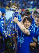 Shinji Okazaki Leicester City Signed 16 x 12 inch football photo. Good condition. All autographs