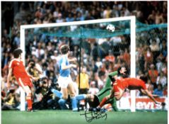 Trevor Francis Notts Forest Signed 16 x 12 inch football photo. Good condition. All autographs